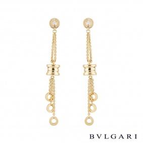 Bvlgari Yellow Gold Diamond B.Zero1 Earrings